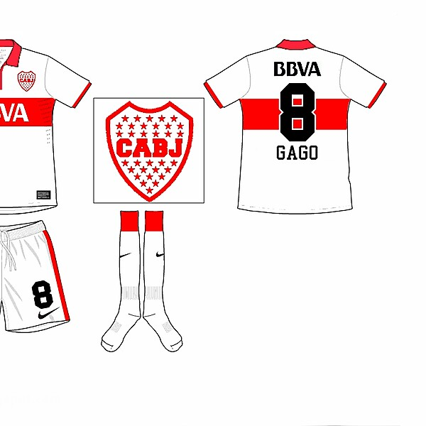 Changed roles - Boca Juniors Away Kit (River Plate Colors)
