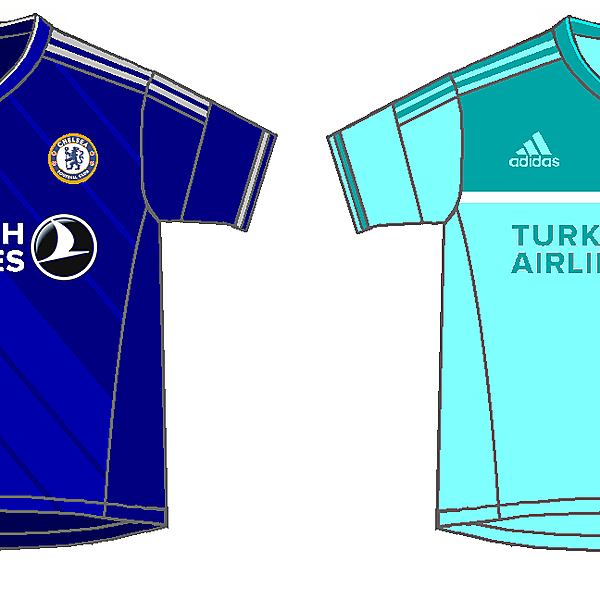 Chelse Fantasy home & away kits