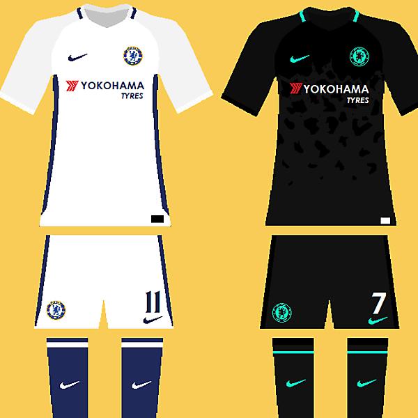 Chelsea 2017-18 kits