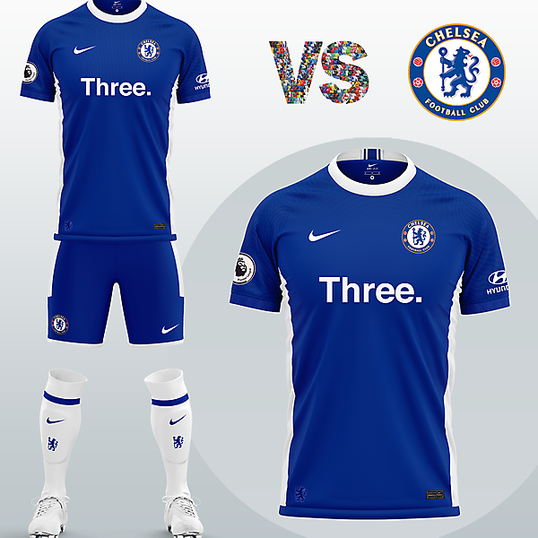 Chelsea FC Home kit with Nike (Concept 2020/21)
