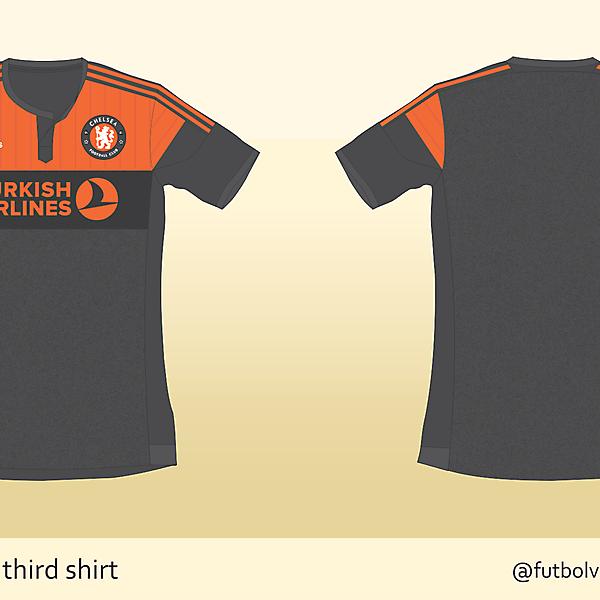 Chelsea FC third shirt - Gray & Orange