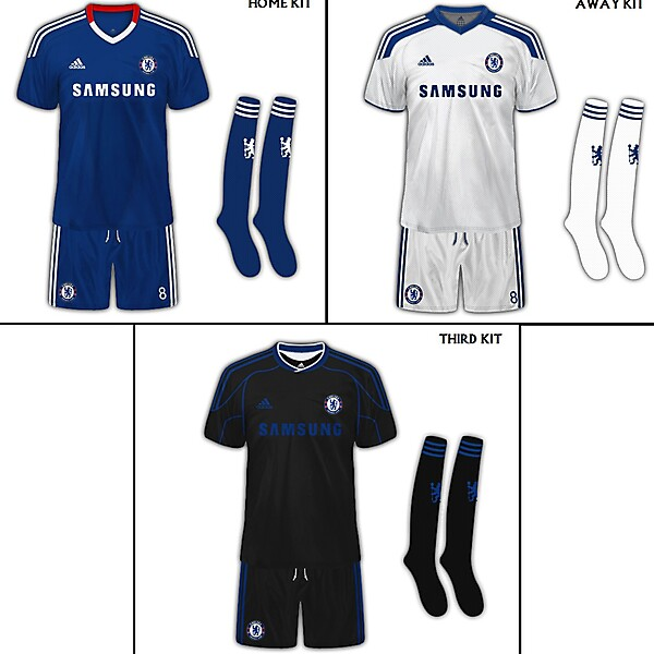 Chelsea FC Set Of Fanatasy Kits
