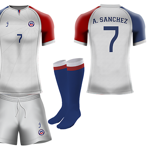 Chile away kit by J-sports