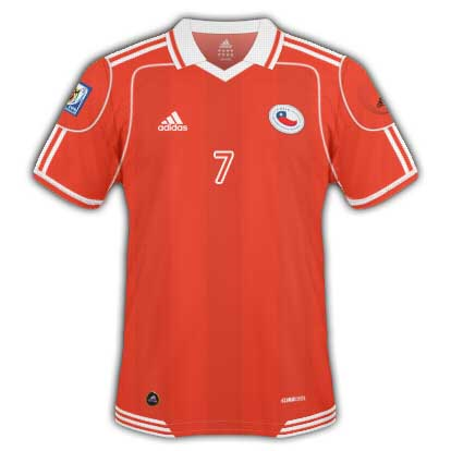 Chile 2010 World Cup Home Shirt