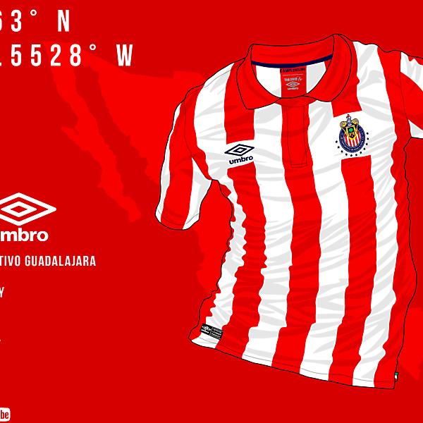 Chivas Home Jersey x Umbro (Liga MXxUmbro)