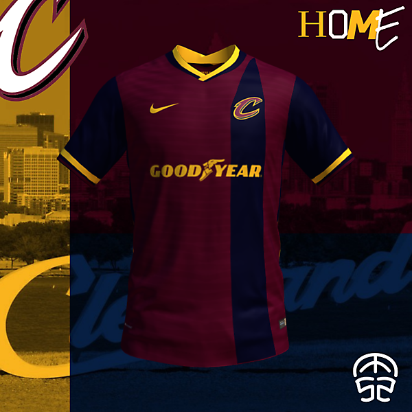 CLEVELAND CAVALIERS CONCEPT SOCCER HOME JERSEY