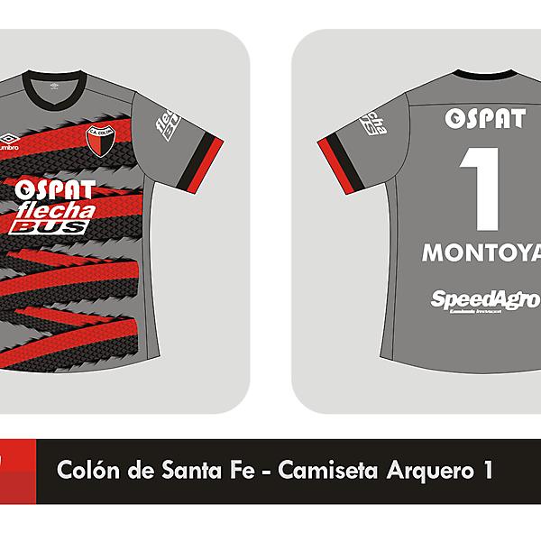 Colón de Santa Fe Goalkeeper shirt 2014