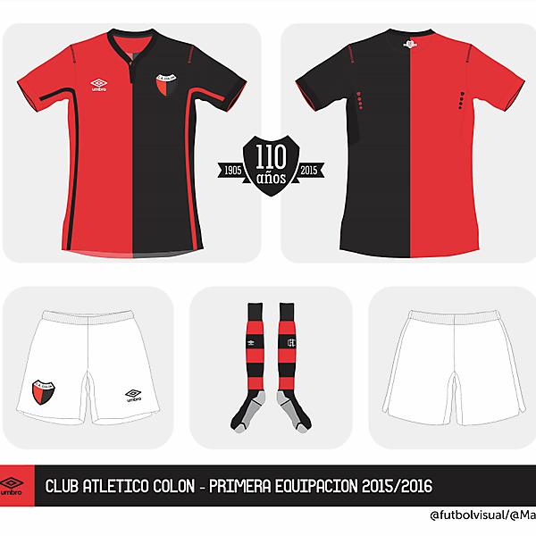 Colón Umbro home kit 2015