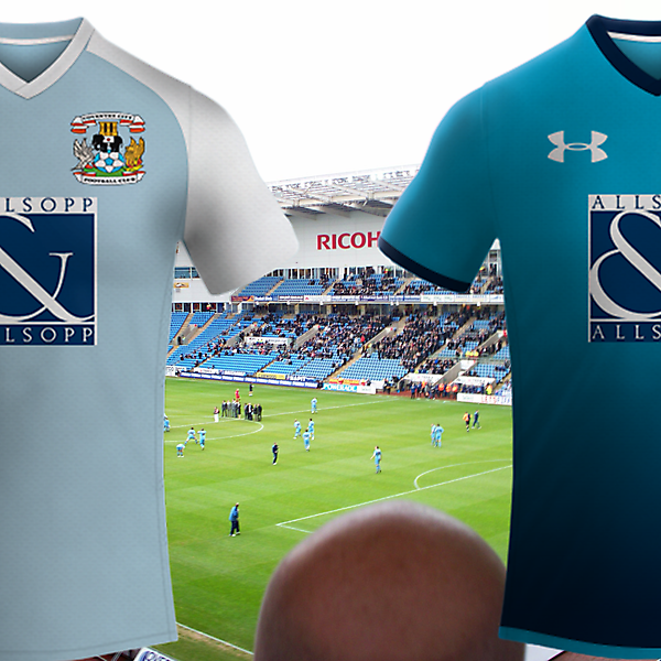 Coventry City Fc / Under Amour Model Home Kit 2017
