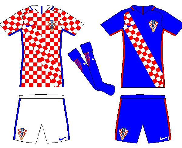 Croatia Home and Away Kits