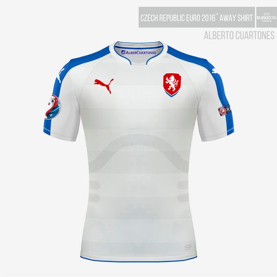 Czech Republic UEFA EURO 2016™ Away Shirt