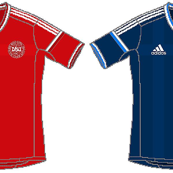 Denmark Adidas World Cup Kits