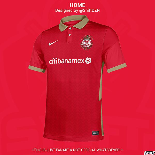 Deportivo Toluca X Nike Home Jersey Concept