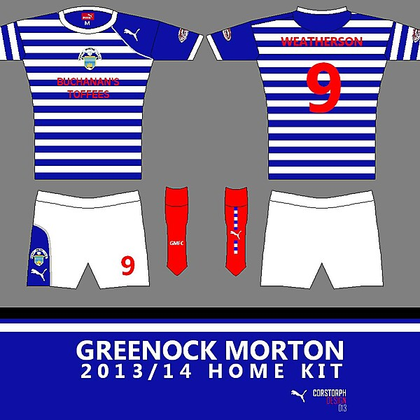 Greenock Morton 13/14 Home Kit (Puma)