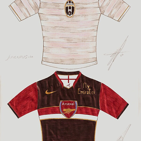 Juve and Arsenal Hand made design