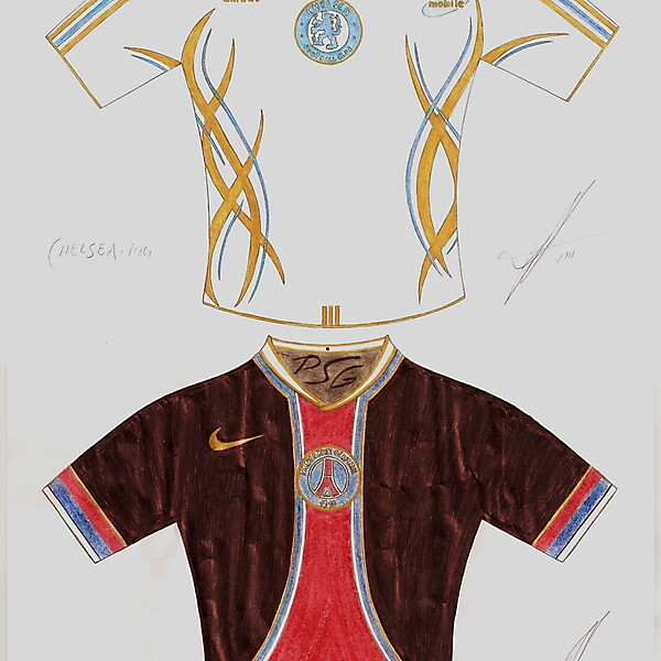 Chelsea and PSG Hand made design