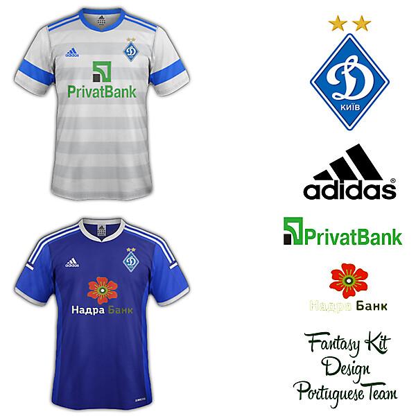 Dinamo Kiev Home and Away Fantasy Kit 2014/2015