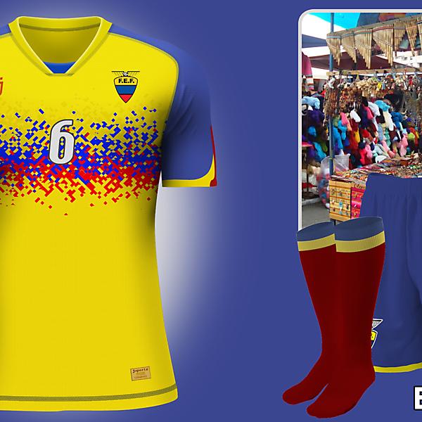 Ecuador home kit - Copa América 2015