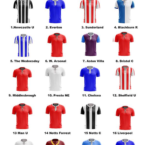EFL 1908-09 kits