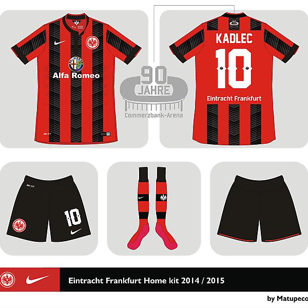 Eintracht Frankfurt home kit 2014 2015