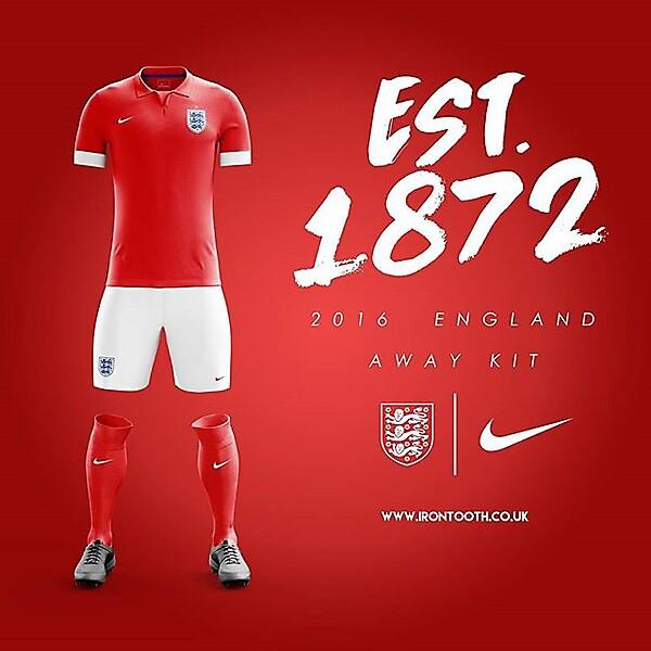 England Away Concept 2016