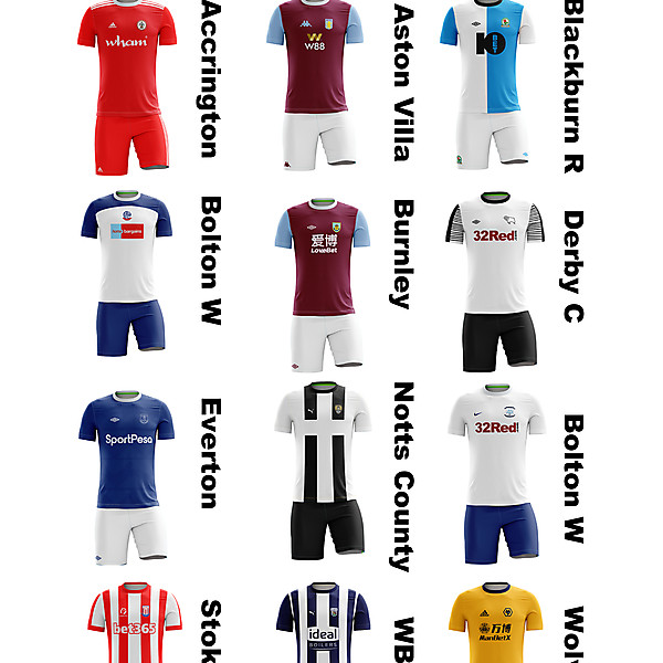 English Football League 1888-as they are now