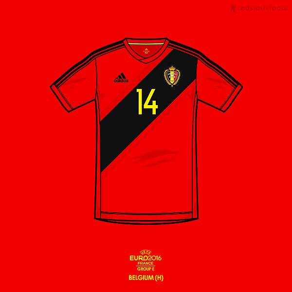 Euro 2016 - adidas Belgium Home