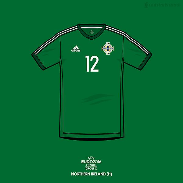 Euro 2016 - adidas Northern Ireland home