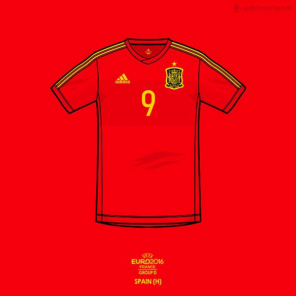 Euro 2016 - adidas Spain Home