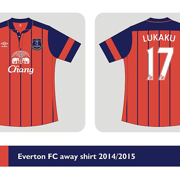 Everton FC away kit Umbro 2014/2015  - Prediction