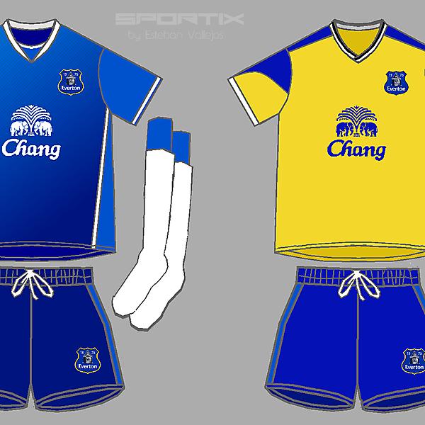 Everton FC Home y Away Kits