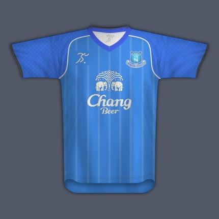 stick football (own brand) everton kit