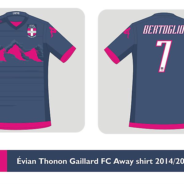Évian Thonon Gaillard Kappa away shirt 2014 2015