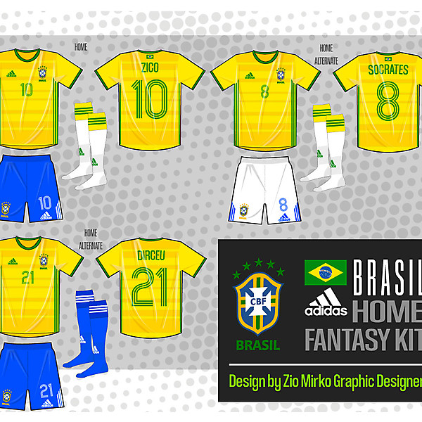 Fantasy Adidas Brazil HOME