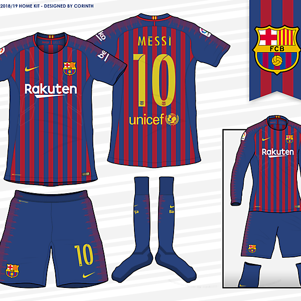 FC Barcelona - 2018 / 2019 Home Kit (According to leaks)