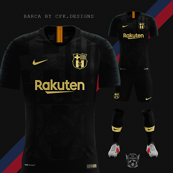 FC BARCELONA CONCEPT THIRD KIT WITH THE NEW LOGO ¨BY CFK.DESIGNS¨