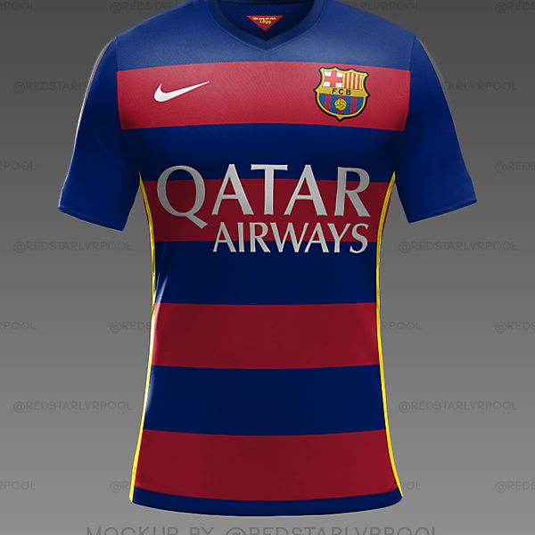 FC Barcelona Home Kit 2015/16 Mockup