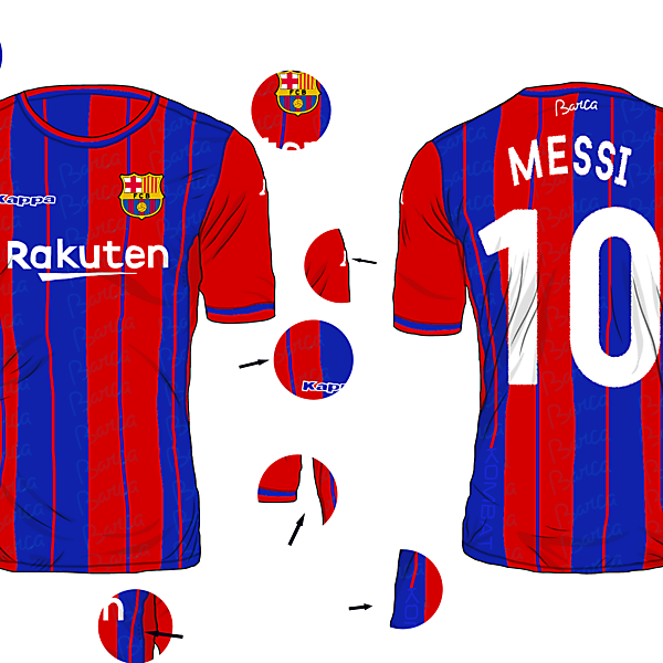 FC Barcelona Home Kit (Kappa Kombat)