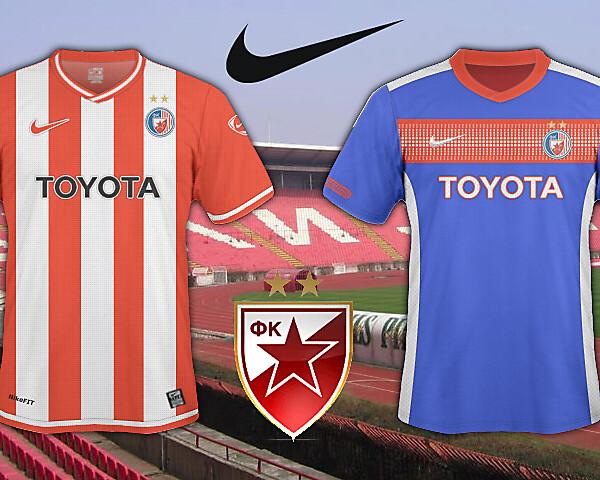 Crvena Zvezda 2010/11 Home And Away Shirt