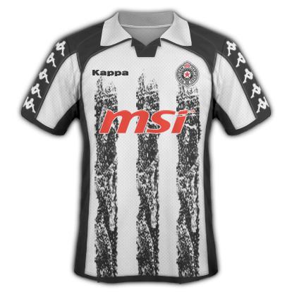 Partizan Belgrade 2010/11 Home Kit