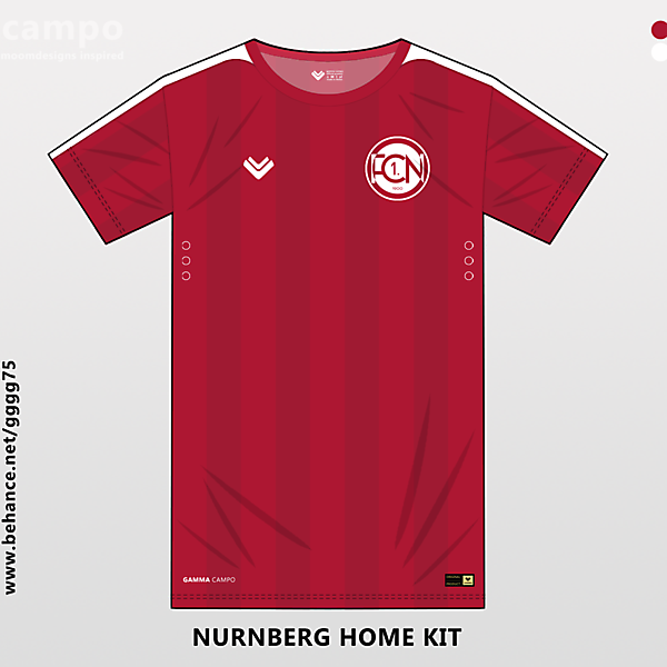 fn nurnberg home kit with the new logo