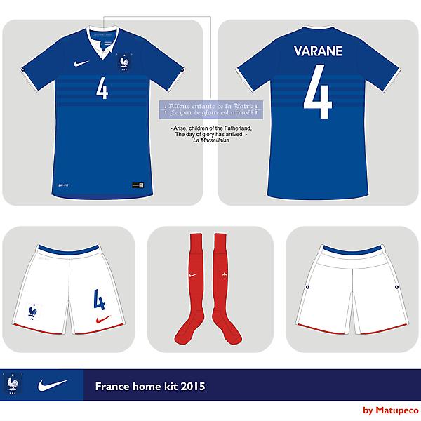 France home kit Nike 2015