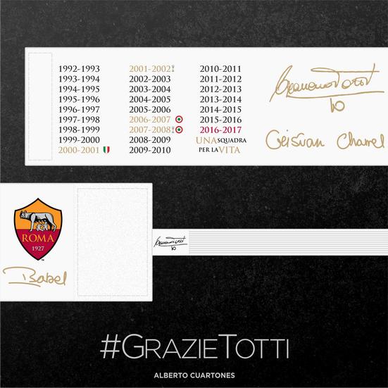 Francesco Totti farewell Armband