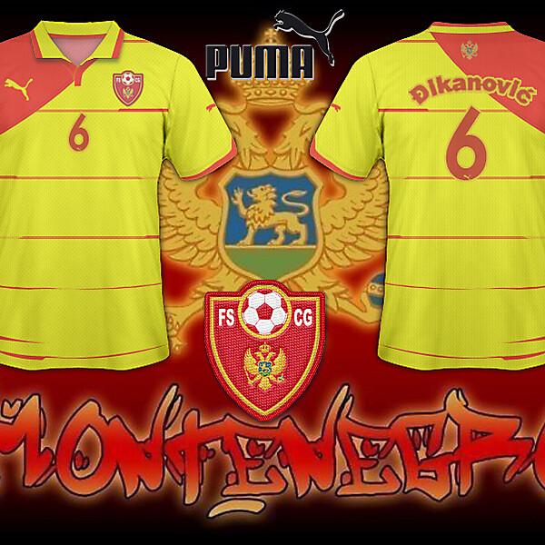 FS Montenegro Away Shirt 2010/11