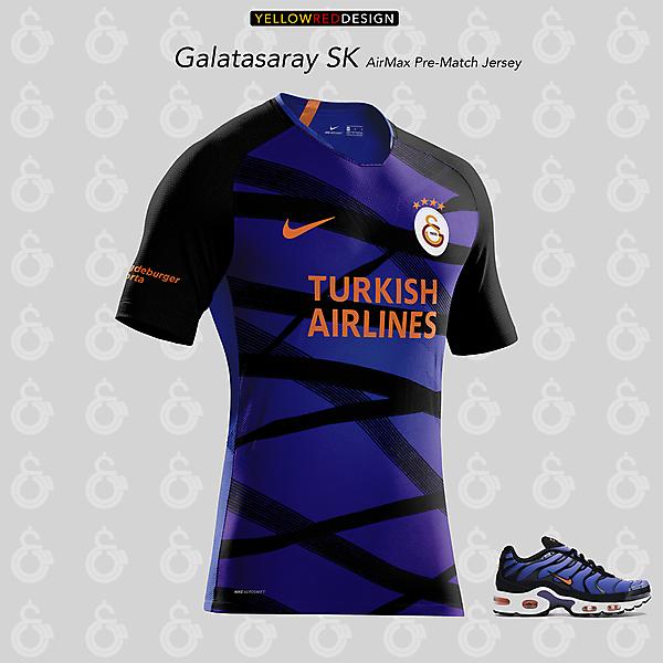 Galatasaray x Nike Air Max Plus - Pre Match kit design