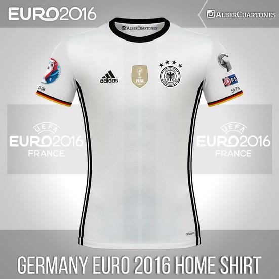 Germany UEFA EURO 2016™ Home Shirt (according to leaks)