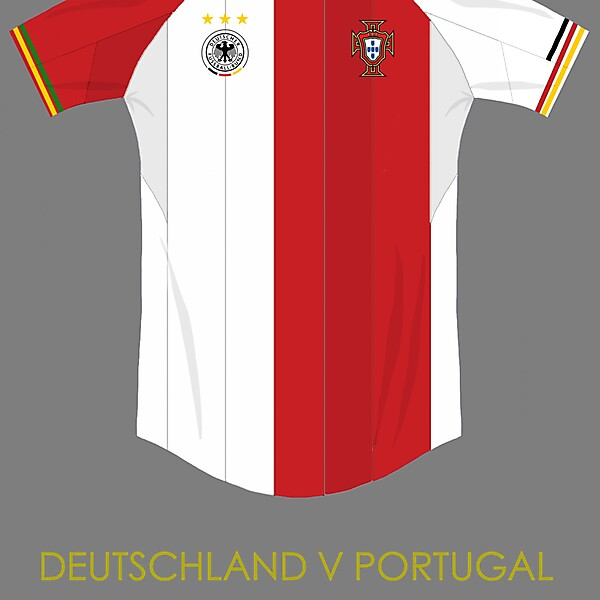 Germany v portugal combined kit concept