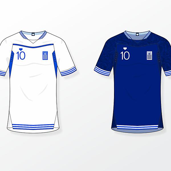 Greece NT [home & away shirts]