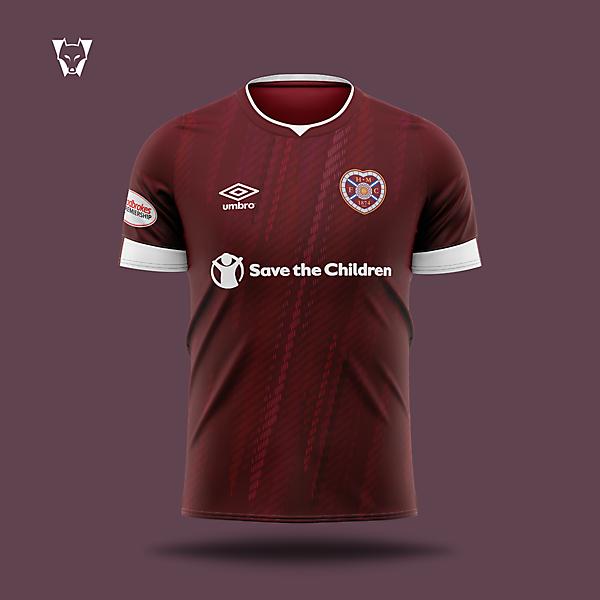 Heart of Midlothian x Umbro - home concept