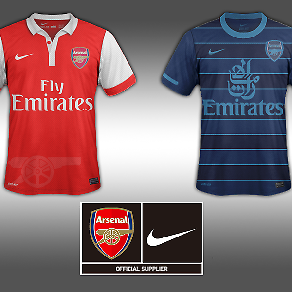 Home and Away Jersey-Arsenal